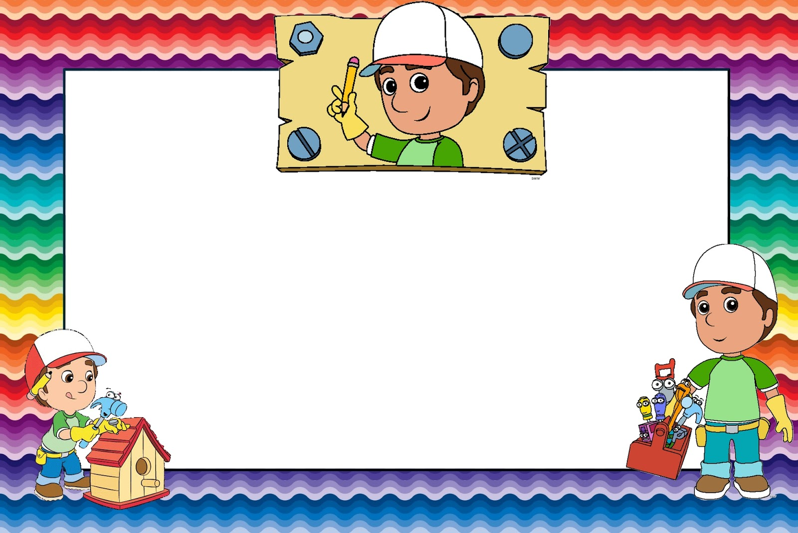 Handy Manny Party: Free Printable Invitations.