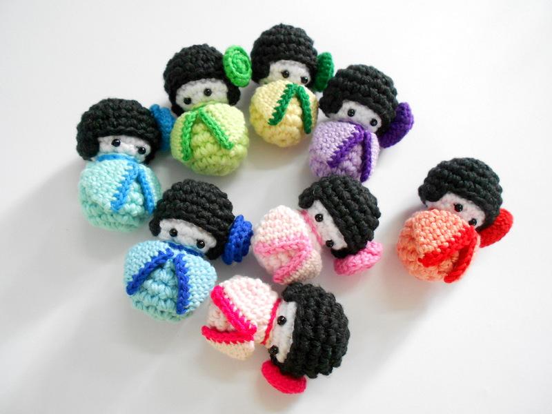 Amigurumi Kokeshi Doll Pattern : Firefly crochet: amigurumi japanese kokeshi dolls