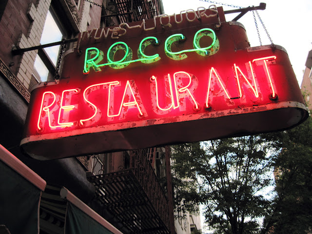 New York City Street Scene Rocco Restaurant Greenwich Village