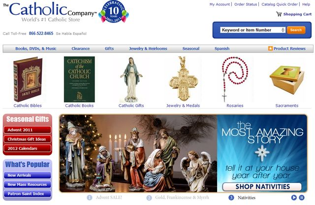 CatholicCompany.com - Christmas Patron Saints Medals
