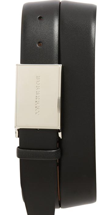 Burberry 'Charles' Leather Belt