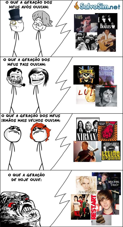 Geração da música de agora