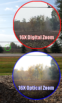 A comparison of 16 times digital versus optical magnification