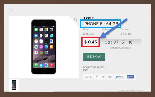 أحصل على أفضل الهواتف الذكية (مثل اي فون 6 ) والكثير من المنتوجات بسعر لا يتجاوز 10 دولار