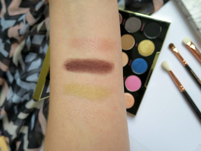 Urban Decay Gwen Stefani Eye Shadow Palette Neutral Favourite Swatch Arm