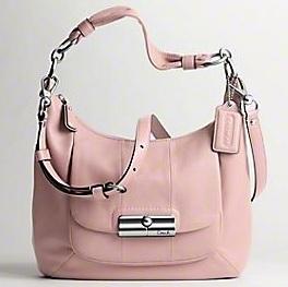 bags bags coach 16808 kristin leather hobo light pink. Black Bedroom Furniture Sets. Home Design Ideas