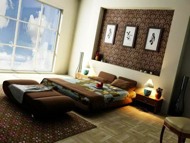Paint ideas for bedrooms with accent wall for Master bedroom paint ideas