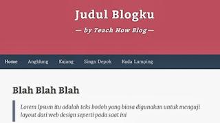 judul blog ditengah