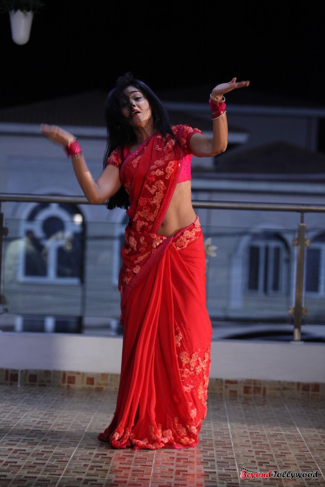 Shriya Hot In Pavithra Shriya saran hot red saree