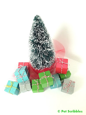 DIY Miniature Christmas Presents to go with your bottle brush trees!