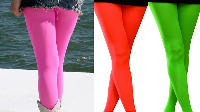 neon bright tights leggings