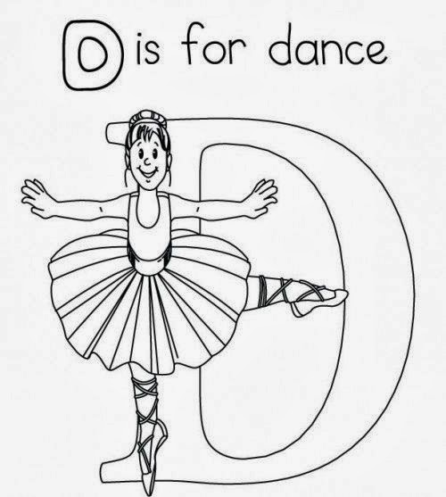 printable alphabet coloring pages dance