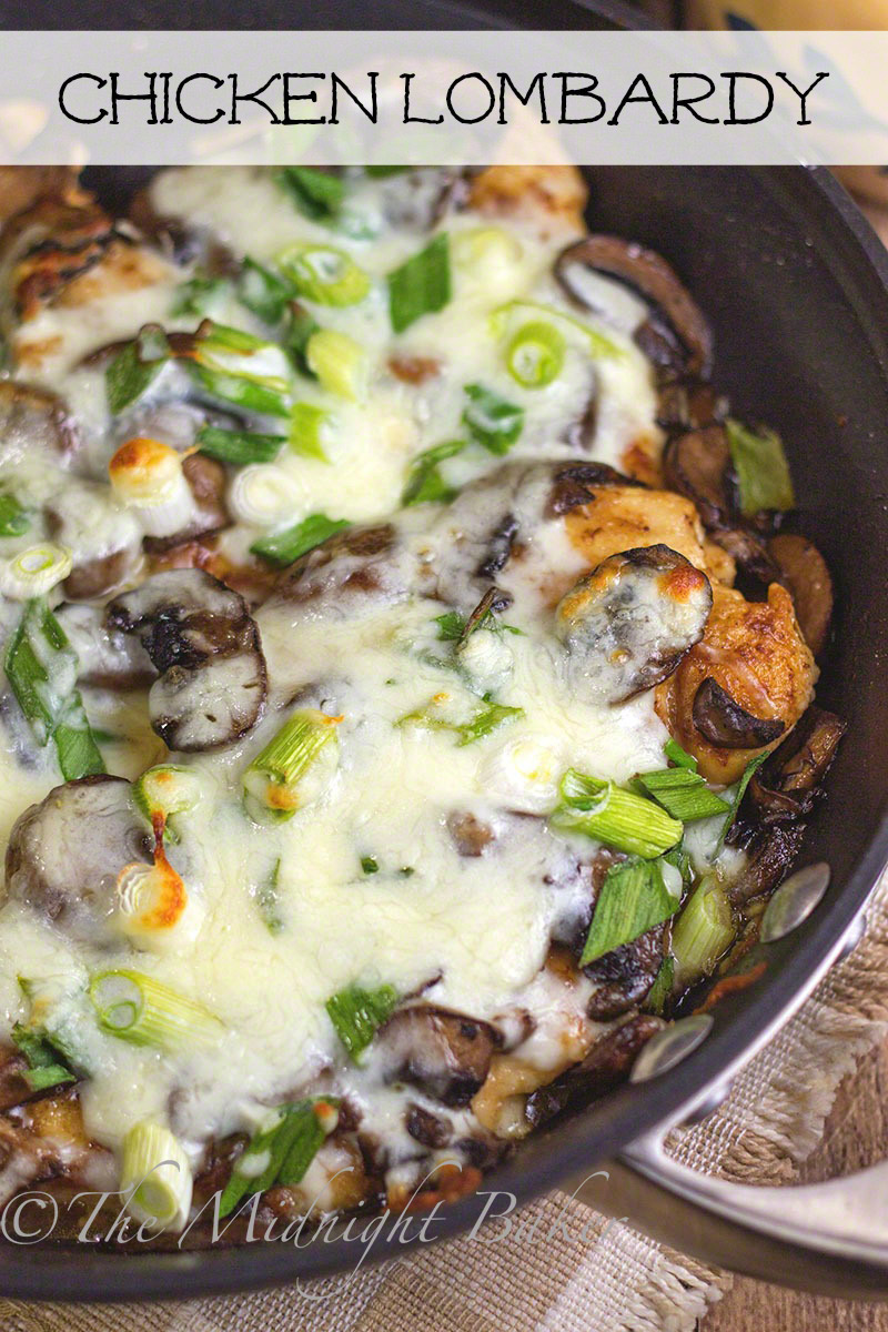 Chicken Lombardy | Bakeatmidnite.com | #chicken #mushrooms #marsala  #copycat #