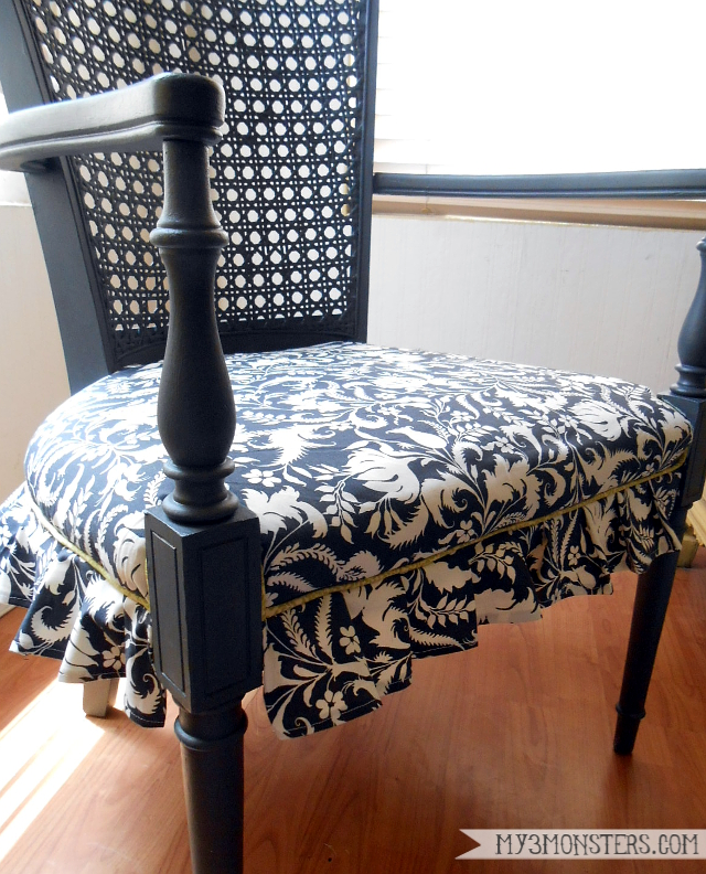 Easy DIY Thrift Store Chair Makeover at my3monsters.com