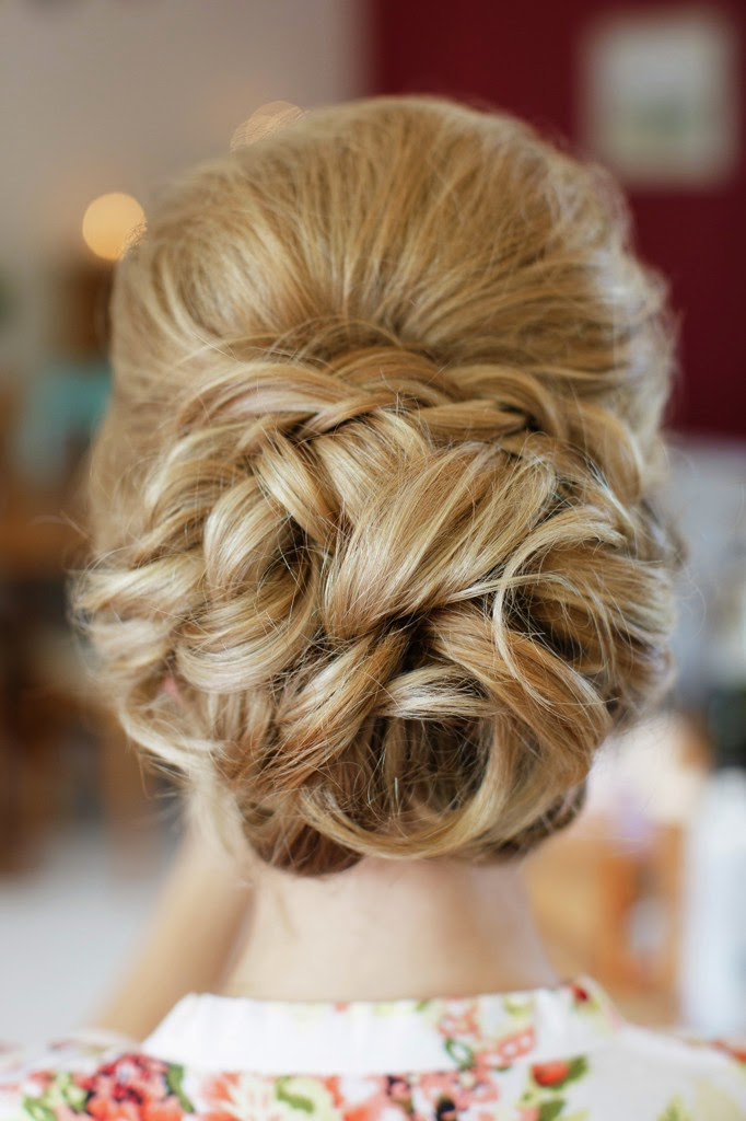 soft textured bridal bun with braid and soft volume