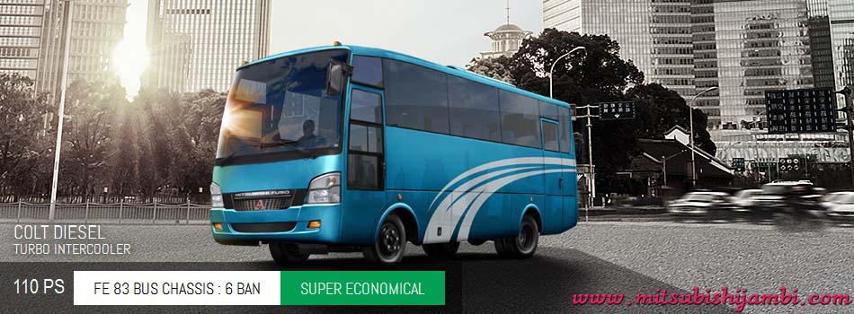 Spesifikasi Mitsubishi Colt Diesel Bus FE 83 BC 110 PS Jambi