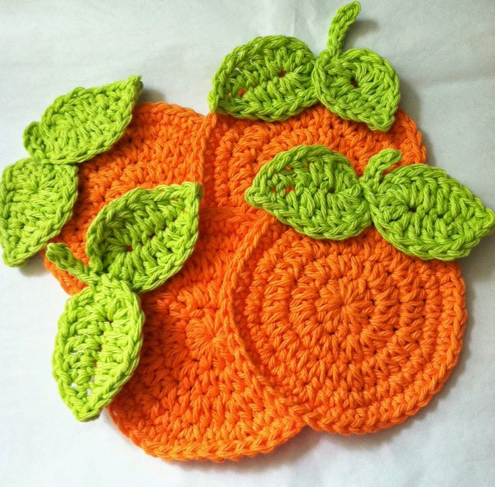 Crochet Fruit Coasters Free Pattern : Lakeview Cottage Kids: FREE Pattern for