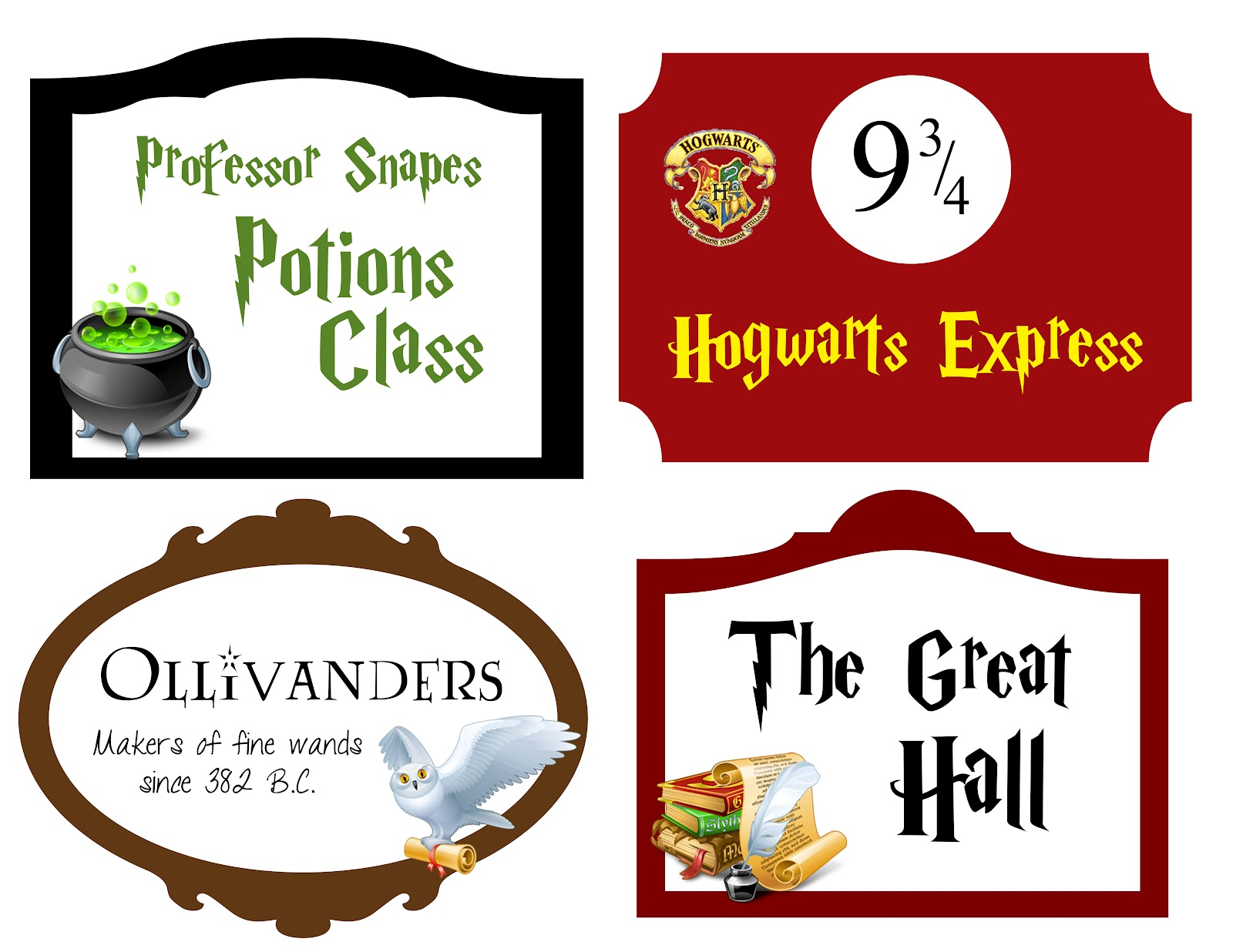 Decisive image with harry potter printable signs