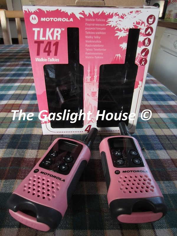 Pink Motorola TLKR T41 Walkie Talkies