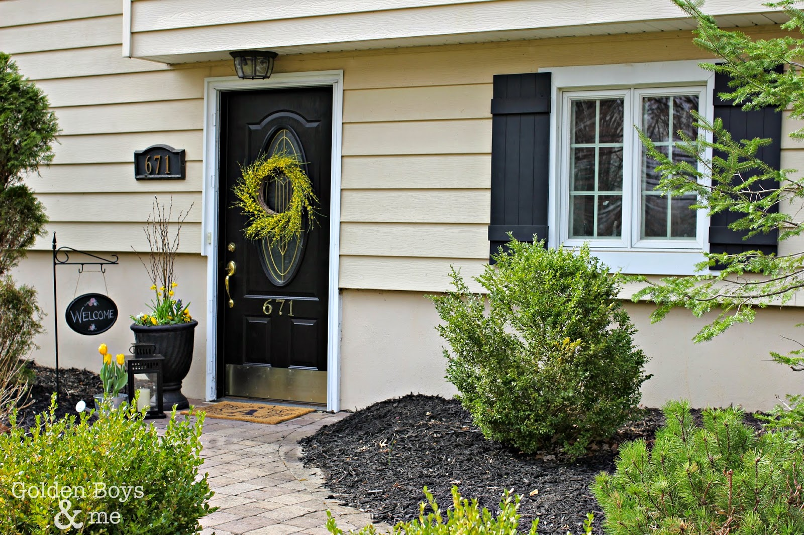 Golden Boys and Me: Adding Curb Appeal with New Shutters