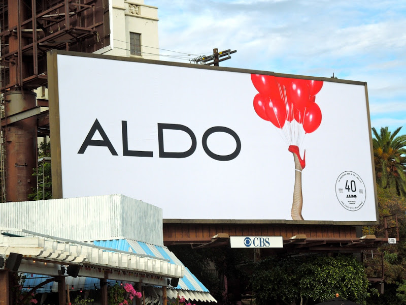 Aldo 40 years balloon billboard Nov 2012