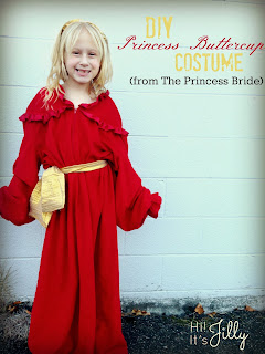 DIY Princess Buttercup Costume from The Princess Bride from Hi! It's Jilly #costume #buttercup #princessbride #halloween