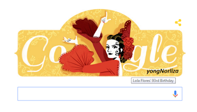 LOLA FLORES ON GOOGLE TODAY