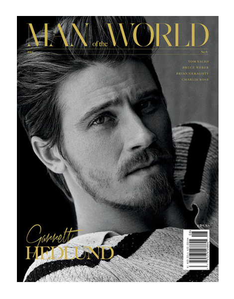 Garrett Hedlund in issue 8 of Man of the World
