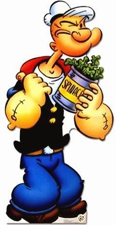 Popeye con su espinaca