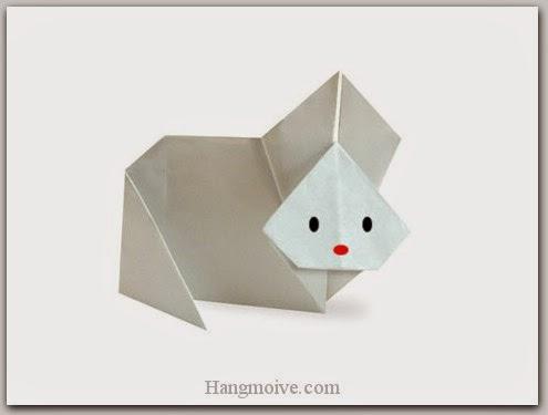 Cách gấp, xếp thỏ kute bằng giấy origami - Video hướng dẫn xếp hình Động vật - How to fold a Rabbit