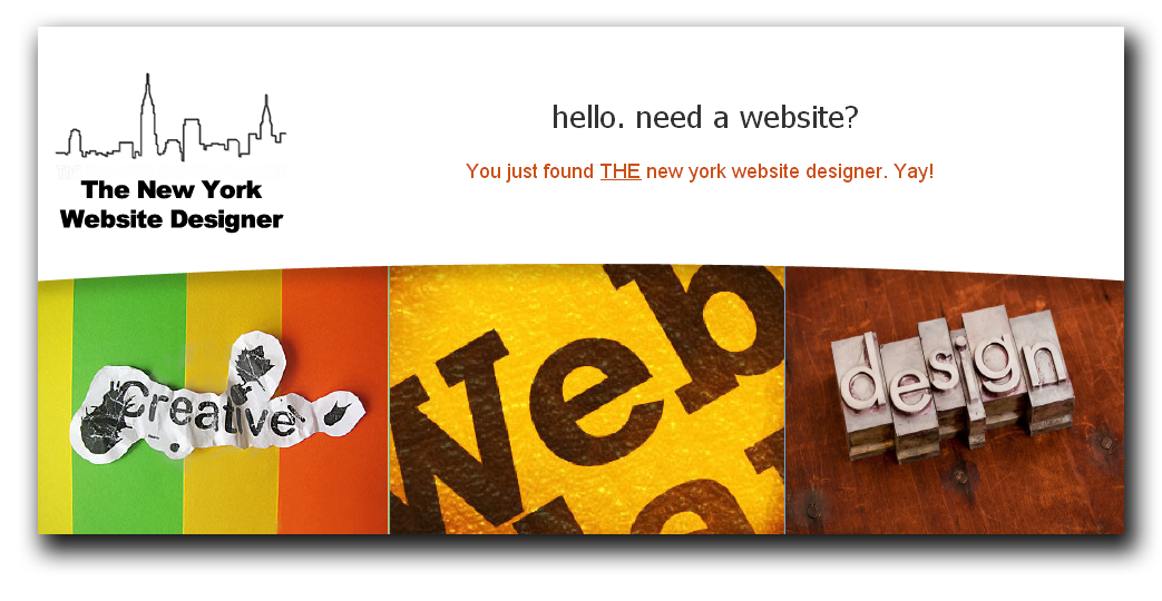 New York Website Designer . Freelance Web Designer based in New York, NYC.