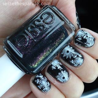 Essie Haute Tub Snowflake Stamping