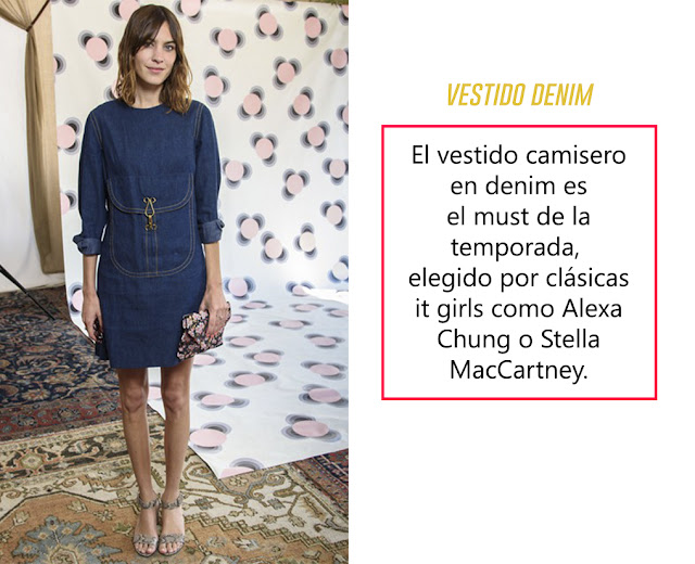 alexa chung denim dress