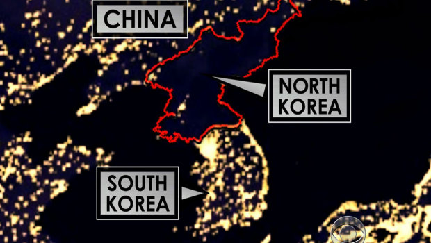 Divine romance north korea i was watching the news yesterday when they showed this picture of what north korea looks like from the sky at night gumiabroncs Choice Image
