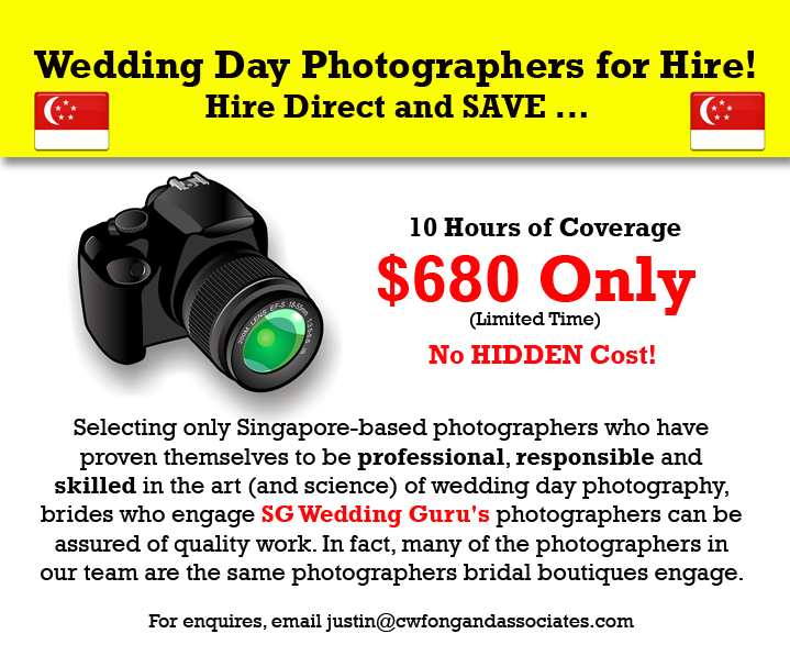 Cheap and Good Singapore Wedding Day Photographer