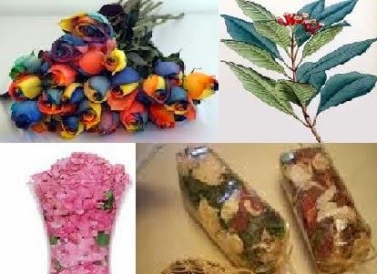 زهور مجففة - ورد مجفف - ورود مجففة - أوراق نبات مجففة