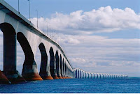 Confederation Bridge links PEI to New Brunswick.