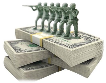 huge american military spending out of control