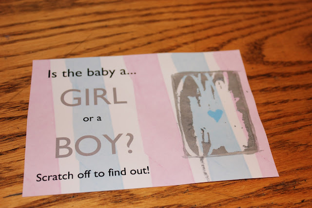 Easy DIY Gender Reveal Announcement Creating Scratch-Off Cards