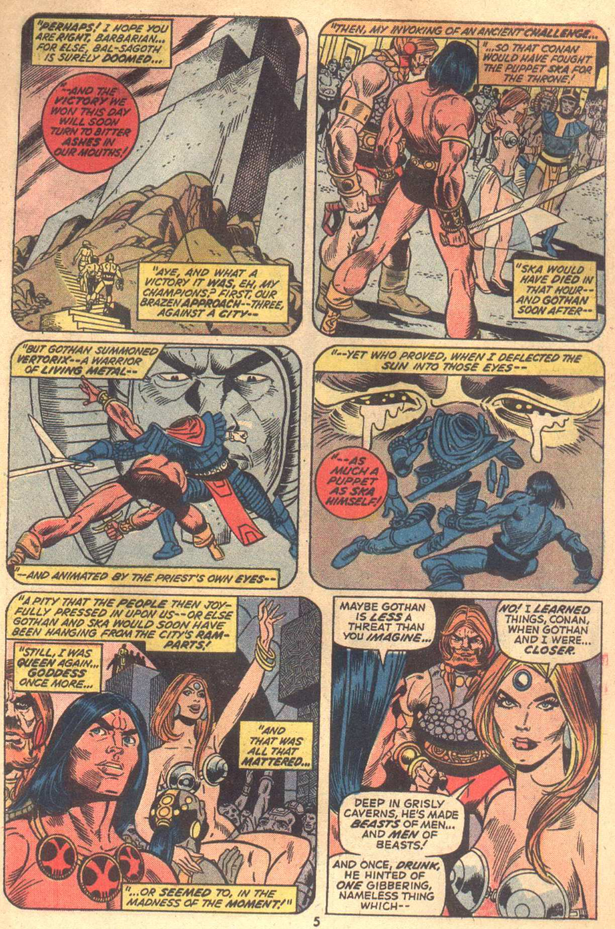 Conan the Barbarian (1970) Issue #18 #30 - English 5