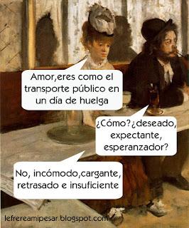 Huelga, metro, madrid, Degas, absenta
