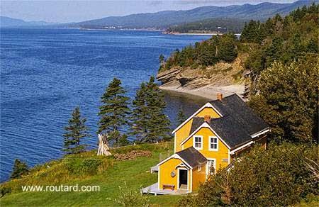 Cabaña colonial histórica en Quebec, Canadá