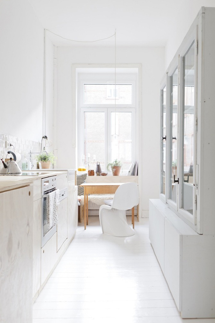 white kitchen by studio oink