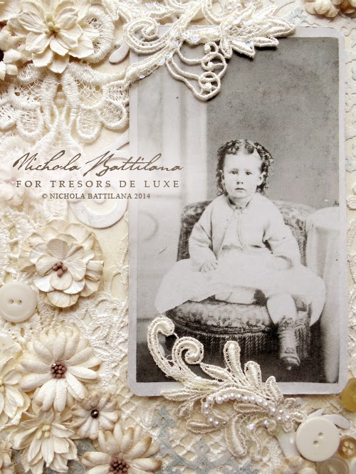 Altered canvas by Nichola Battilana for Tresors de Luxe