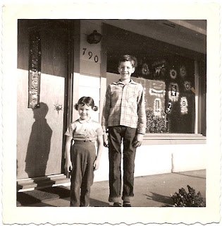 Greg Bean Judy Bean brother and sister circa 1960 Santa Rosa California blog A Family Tapestry