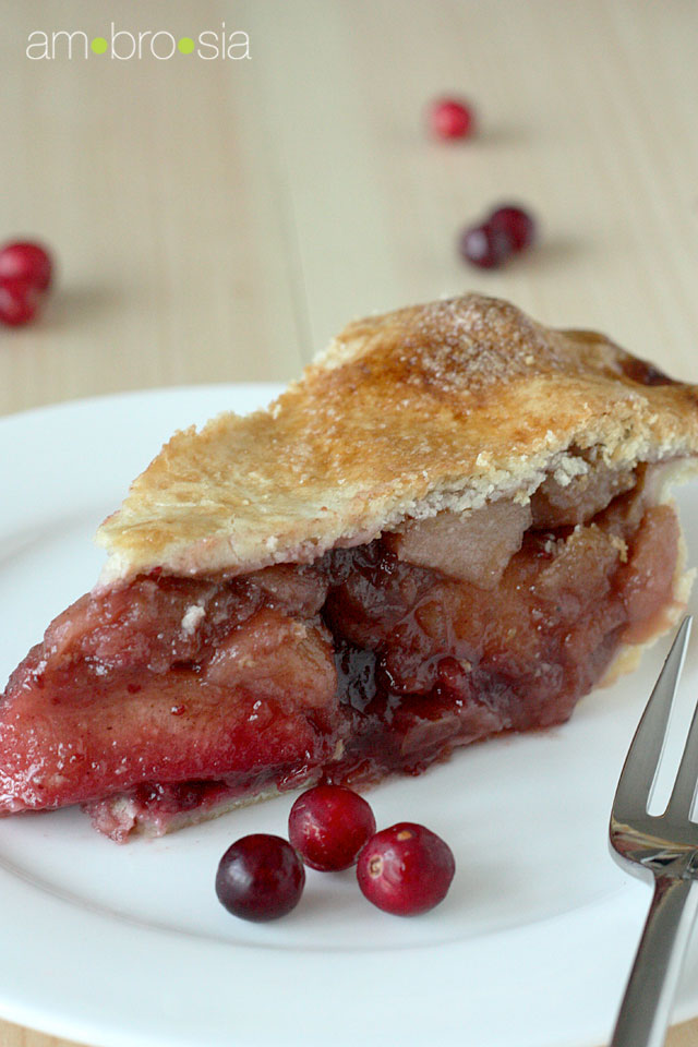 Apple-Cranberry Pie Recipe — Dishmaps