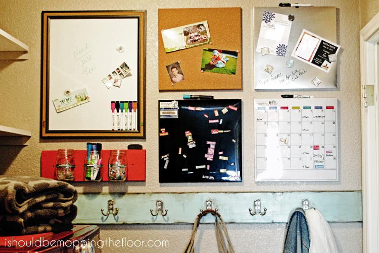 Laundry Room Command Center from ishouldbemoppingthefloor