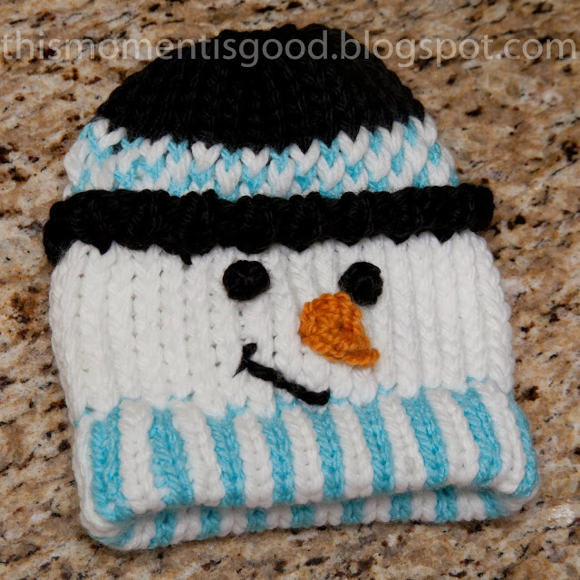 Knitting Pattern For Snowman Hat : Loom Knitting by This Moment is Good!: LOOM KNIT SNOWMAN HAT
