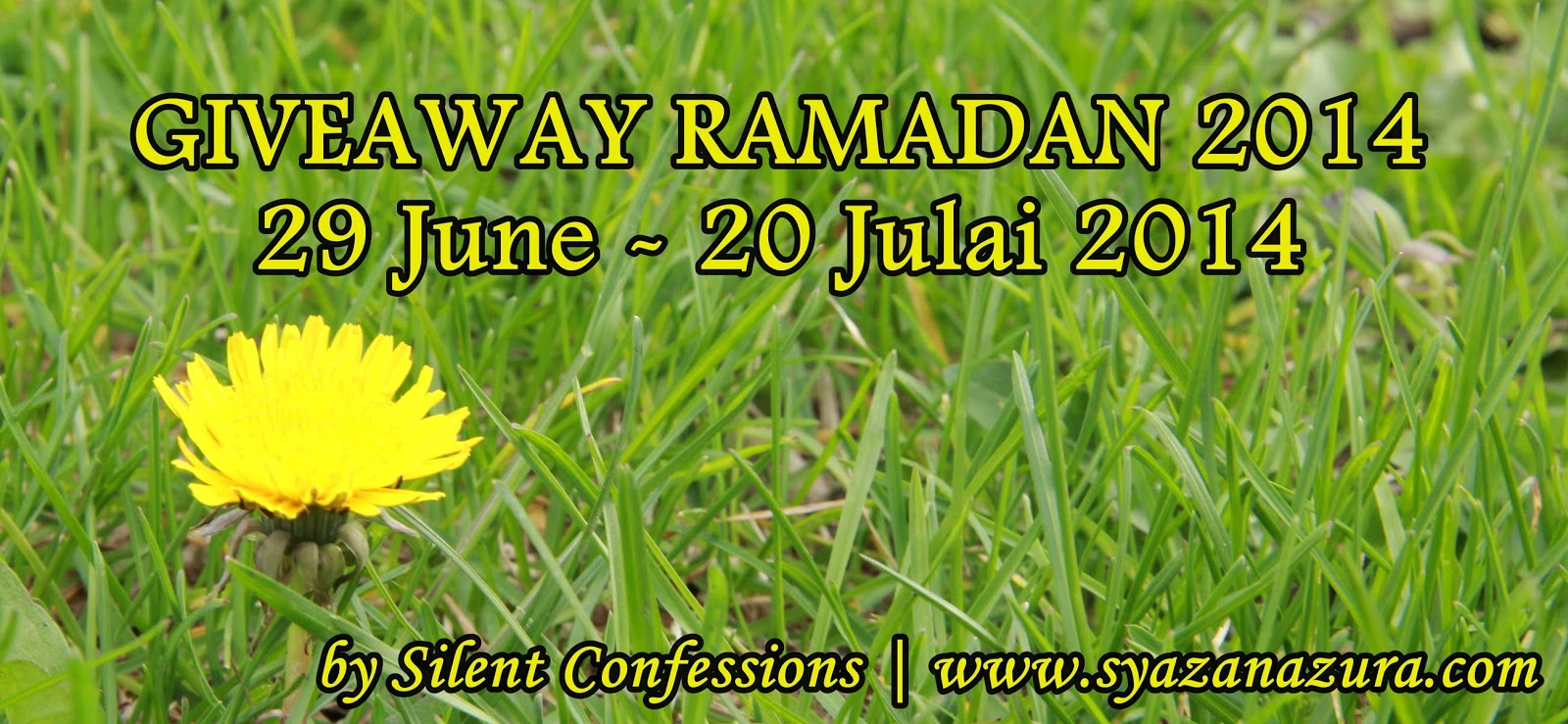 Giveaway Ramadan 2014 by Silent Confessions