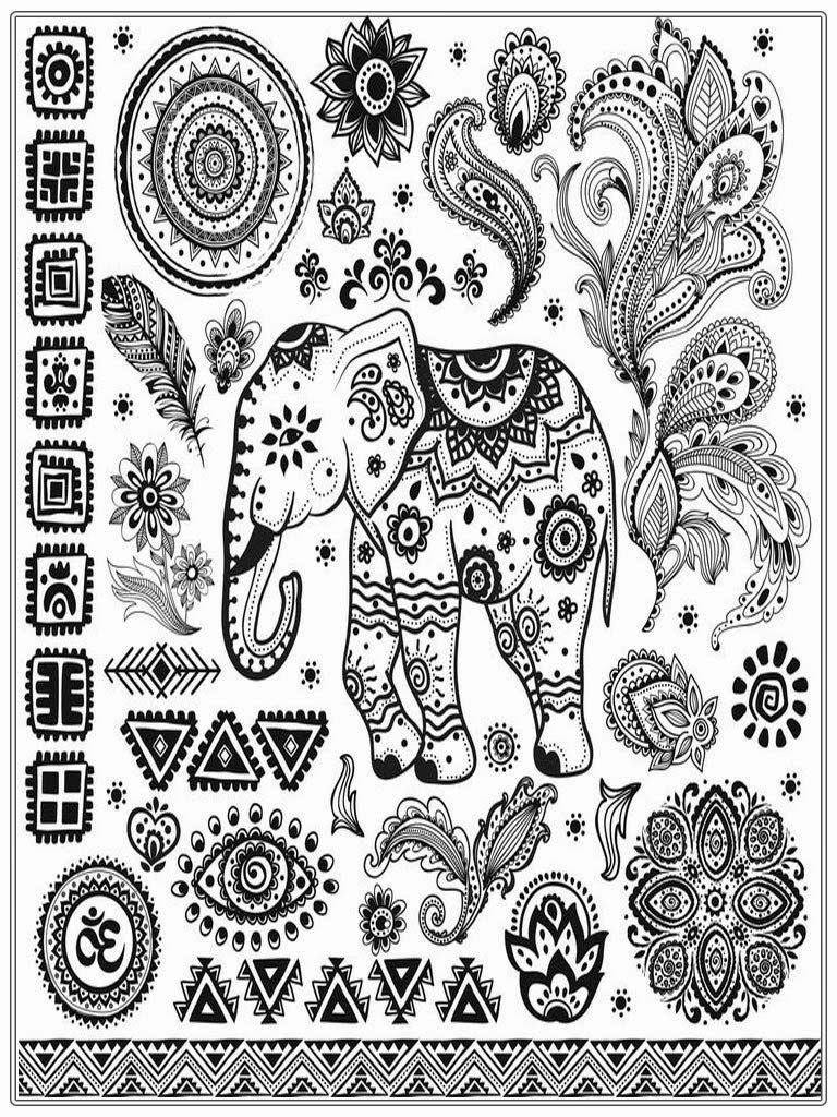 Adult coloring pages free african elephant realistic Coloring books for young adults